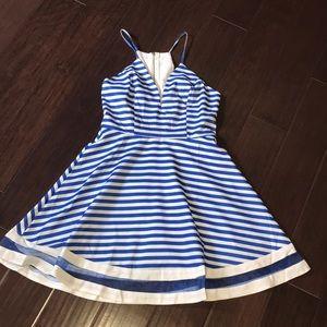 Blue striped Tea & Cup dress size M.  NWT